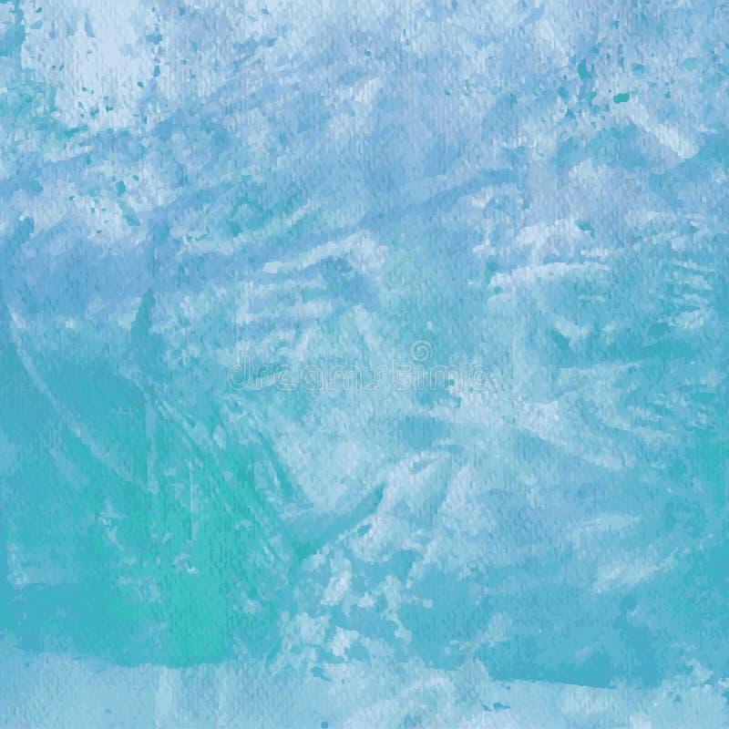 Конструированная текстура бумаги grunge, предпосылка вектора акварели голубая художническая абстрактная, рука нарисованный стиль  бесплатная иллюстрация