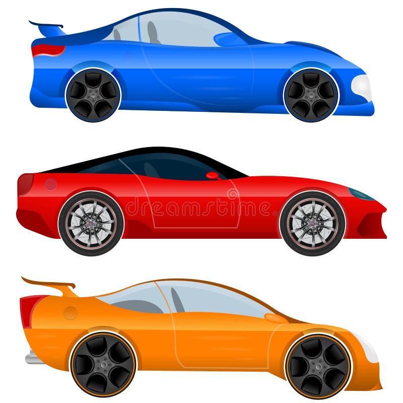 Конструируйте вектор запаса автомобиля и мышцы спорт автомобильный бесплатная иллюстрация