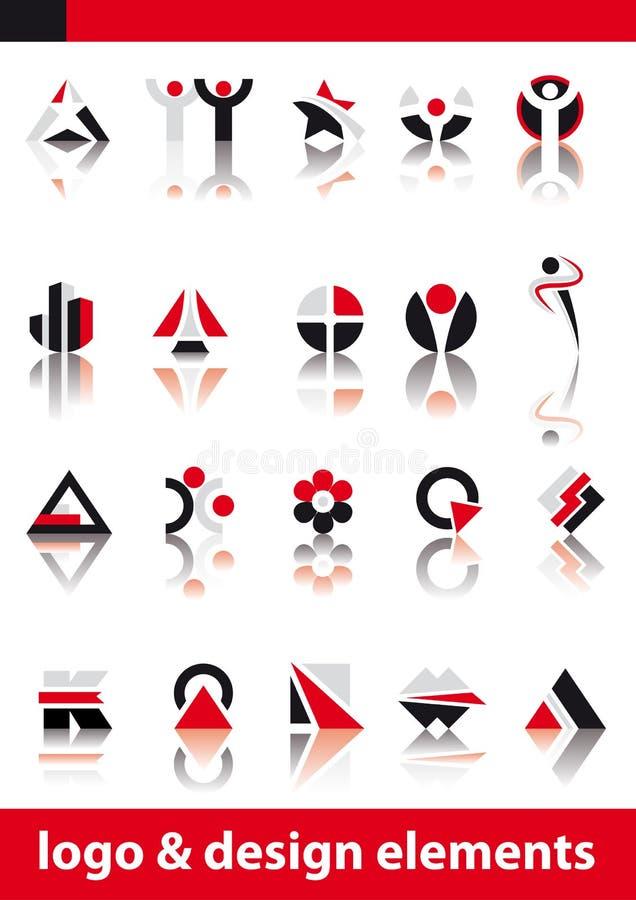 конструируйте вектор логоса элементов иллюстрация штока