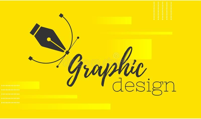 конструируйте график Курсор инструмента ручки Компьютерная графика вектора знамя для дизайнера или иллюстратора Заданные значения иллюстрация штока