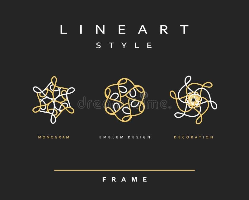 конструируйте комплект элементов Элегантный дизайн вензеля бесплатная иллюстрация