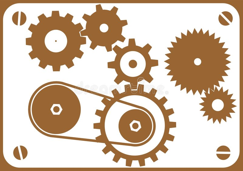 конструируйте машину элементов иллюстрация штока