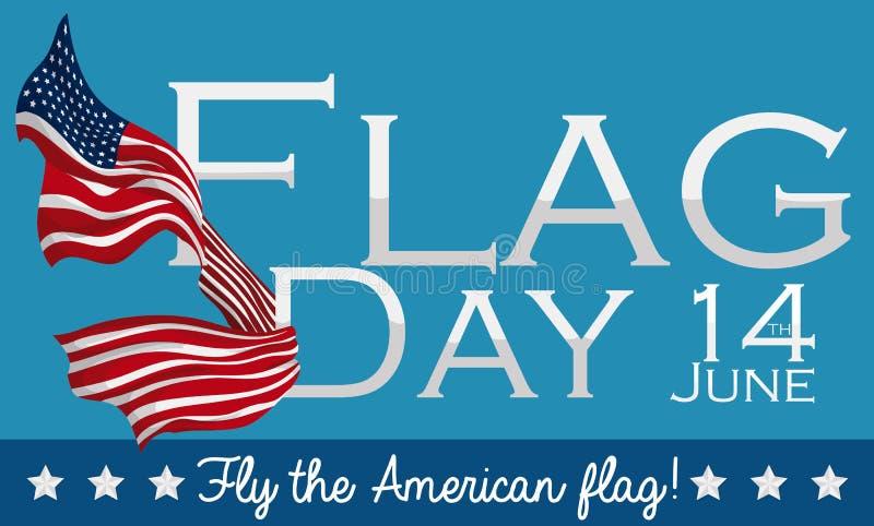 Конструируйте отпраздновать американский День флага в 14-ое июня, иллюстрации вектора бесплатная иллюстрация