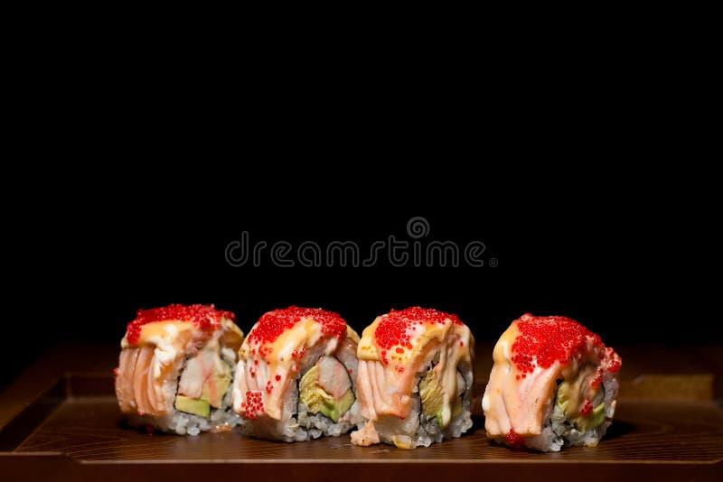конструируйте суши ресторана меню элемента salmon полезные очень стоковые фото