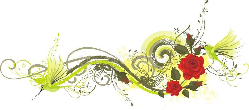 конструируйте флористическую серию иллюстрация вектора