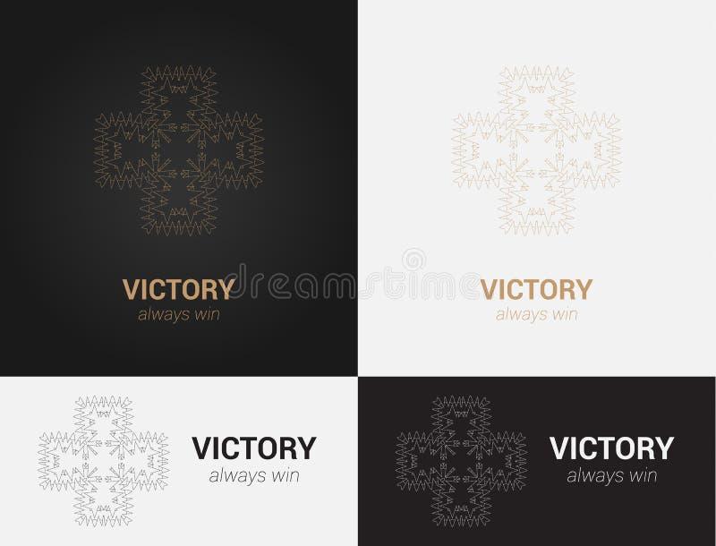 Конструируйте шаблоны в черных, серых и золотых цветах Творческий логотип мандалы, значок, эмблема, символ стоковое фото