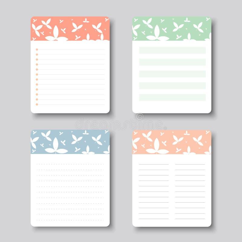 Конструируйте элементы для тетради, дневника, стикеров и другого шаблона вектор, иллюстрация стоковые фото