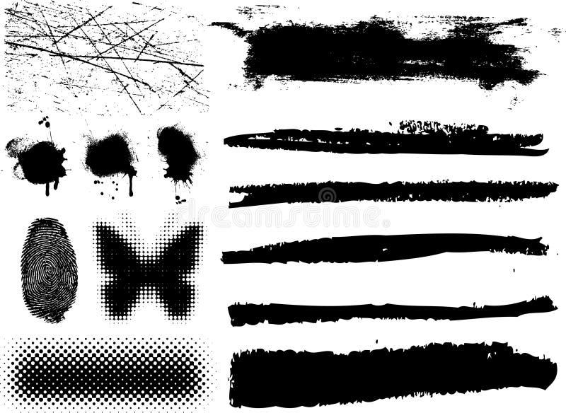 конструируйте grunge элементов иллюстрация штока