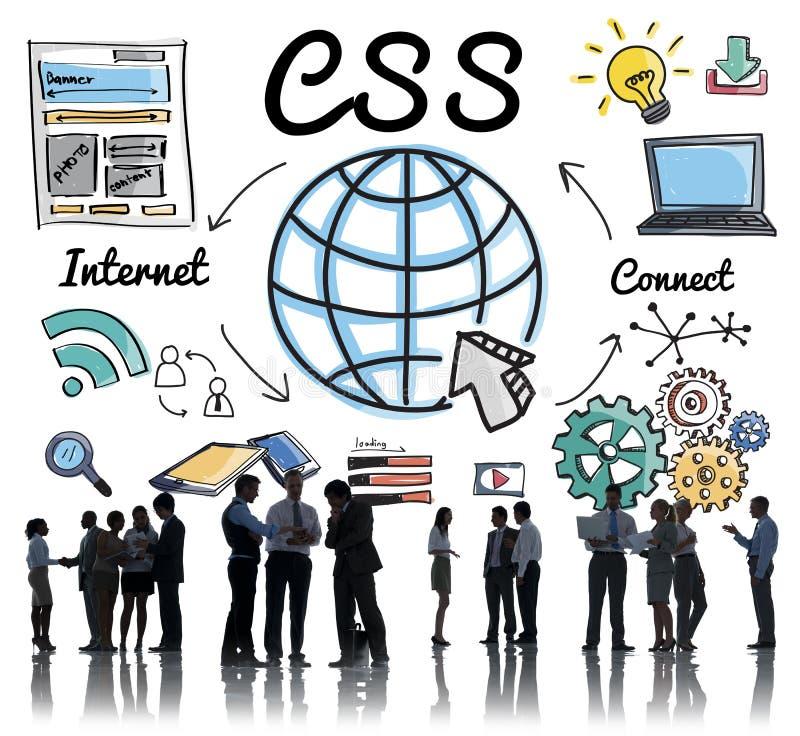 Конструктивная схема веб-дизайна технологии сети CSS онлайн стоковое фото rf