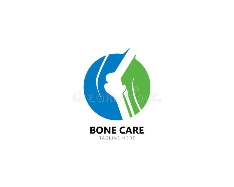 Конструктивная схема логотипа здоровья косточки, вектор обработки косточки иллюстрация штока