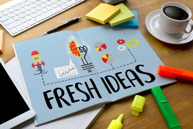 Конструкторское нововведение идей СВЕЖИХ ИДЕЙ думает объективная стратегия, стоковые изображения
