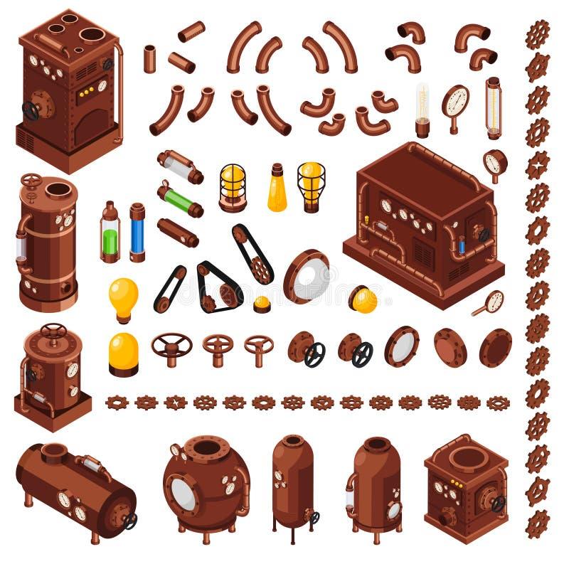 Конструктор Steampunk равновеликий бесплатная иллюстрация
