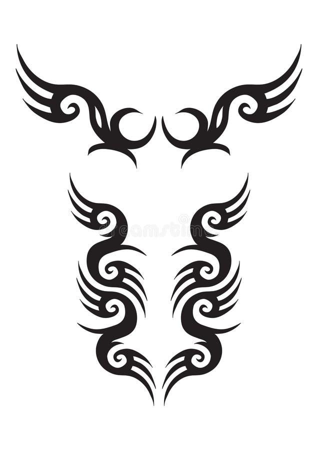 конструкции татуируют соплеменное иллюстрация штока