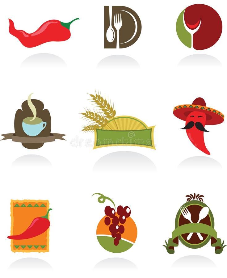Конструкции шаблона логосов для кофейни и остальных бесплатная иллюстрация