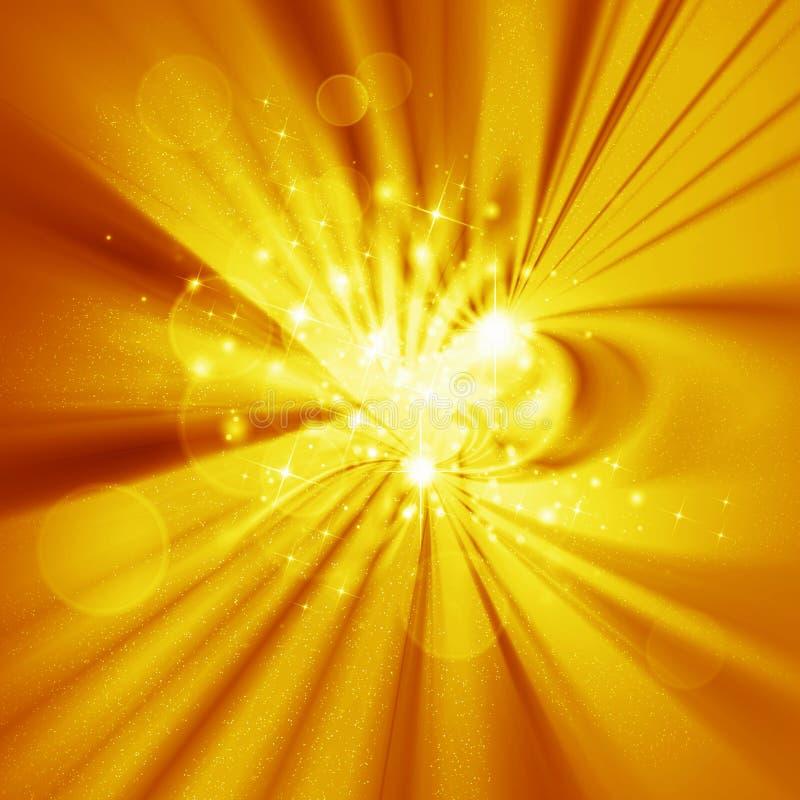 Конструкция абстракции, желтое зарево иллюстрация вектора