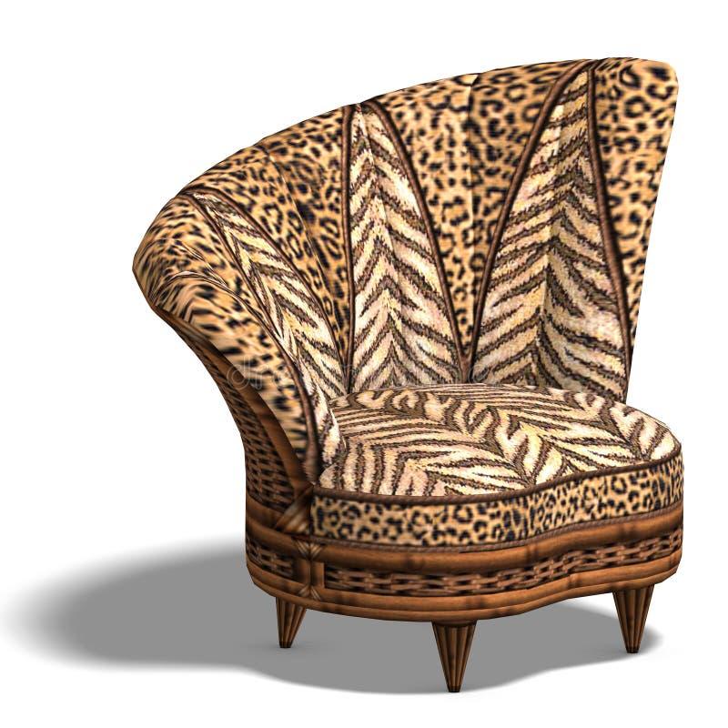 конструкция африканского стула комфортабельная иллюстрация штока
