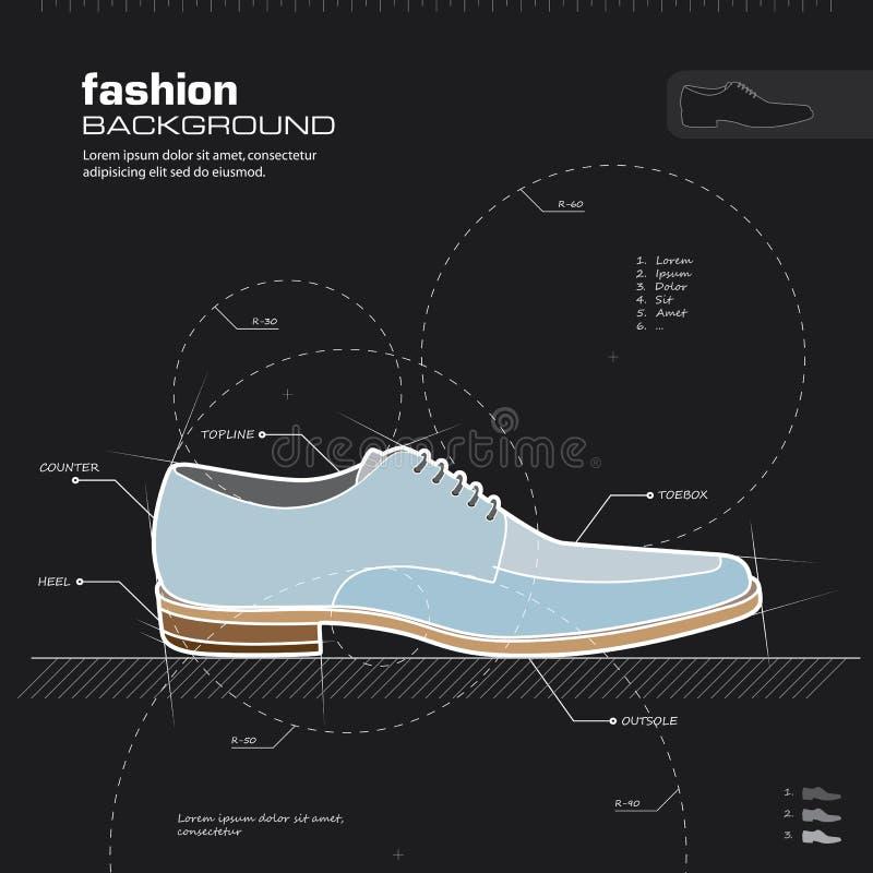 Конструкция ботинок человека. Вектор. иллюстрация вектора