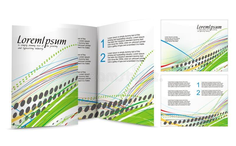 конструкция брошюры иллюстрация вектора
