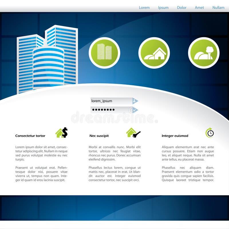 Конструкция вебсайта домашний продавать иллюстрация штока