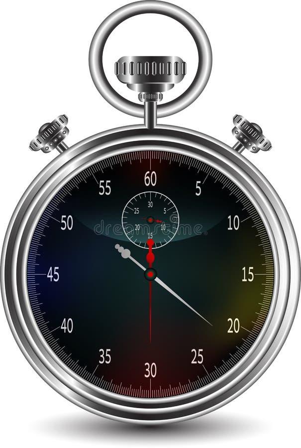 Конструкция вектора секундомера иллюстрация вектора