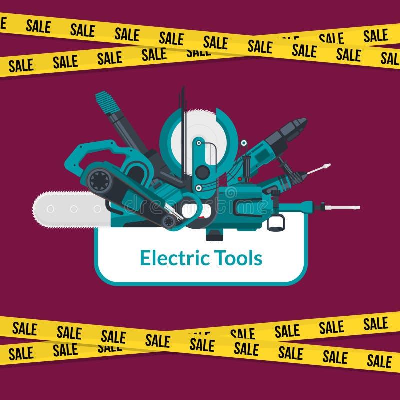 Конструкция вектора электрическая оборудует предпосылку продажи бесплатная иллюстрация