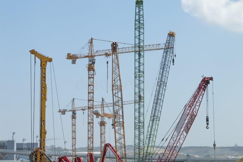 Конструкция в Стамбуле стоковые фотографии rf