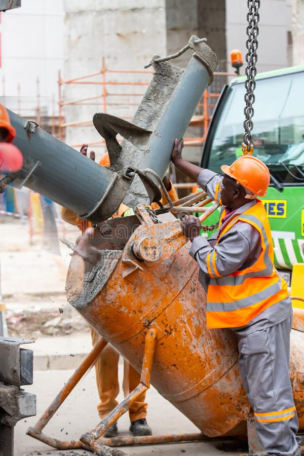 Конструкция в Rosebank Йоханнесбурге стоковое фото rf