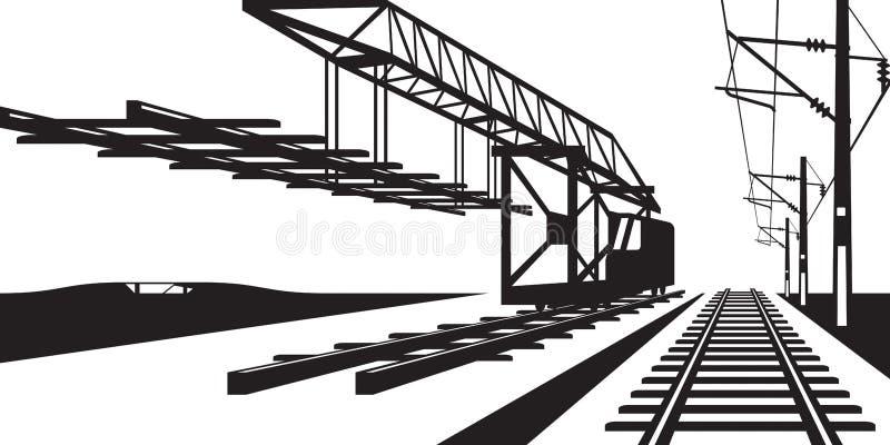 Конструкция железнодорожного пути иллюстрация штока