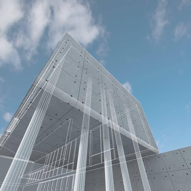 конструкция здания иллюстрация штока