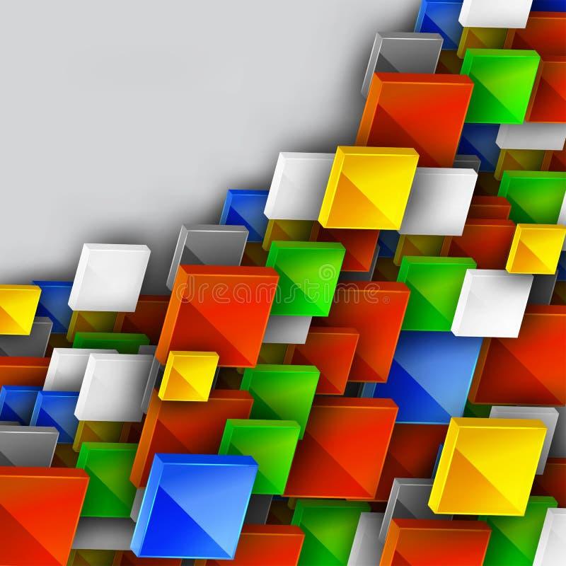 Конструкция знамени цвета иллюстрация вектора