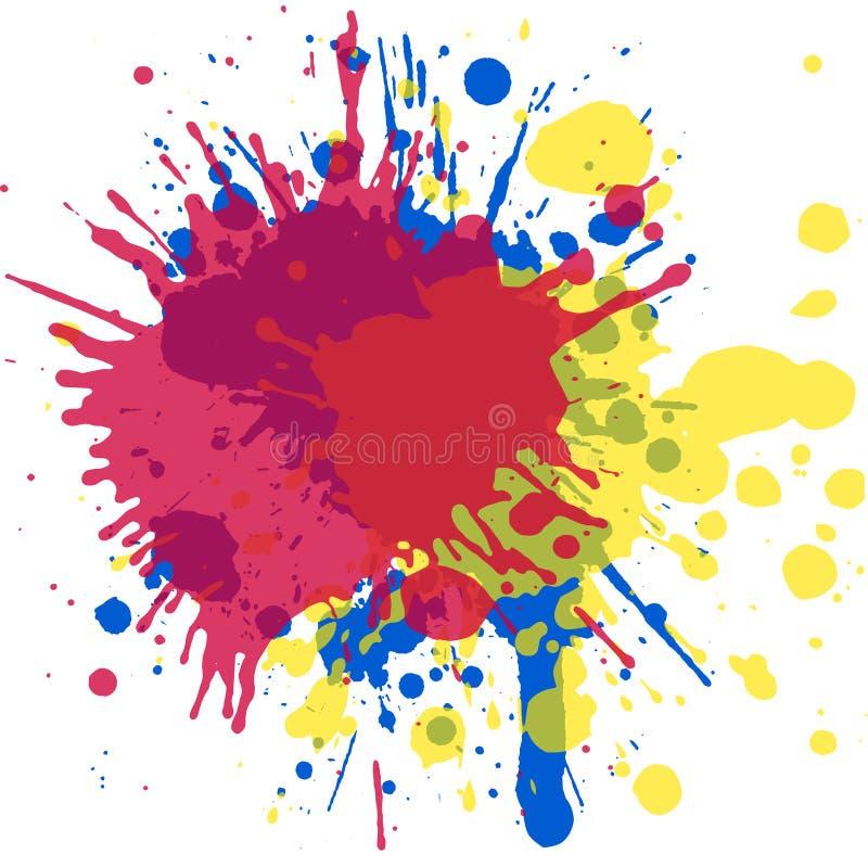 Конструкция искусства Акварель брызгает для ваших творческих способностей иллюстрация вектора