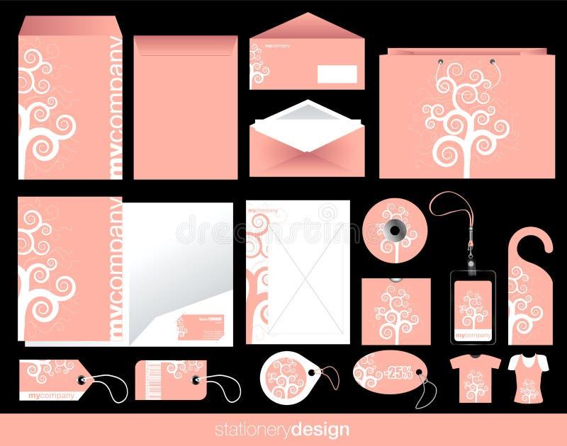 Конструкция канцелярских принадлежностей установленная иллюстрация штока