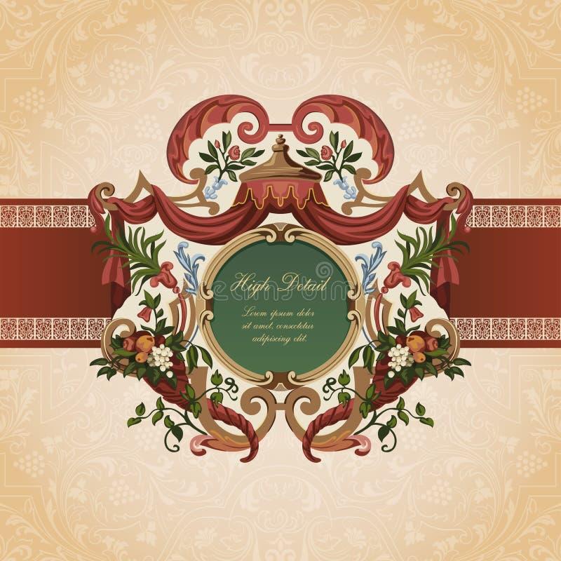 Конструкция карточки сбора винограда. бесплатная иллюстрация