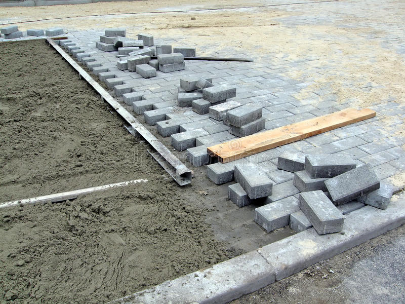конструкция кирпича детализирует дорогу индустрии новую стоковая фотография rf