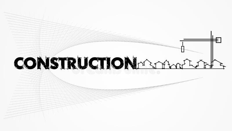 конструкция компании зодчества иллюстрация штока