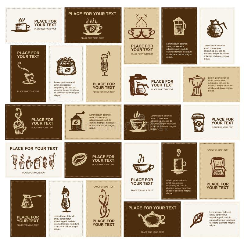 конструкция компании кофе визитных карточек бесплатная иллюстрация