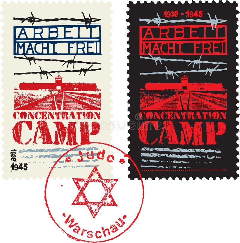Конструкция концентрационного лагеря иллюстрация вектора