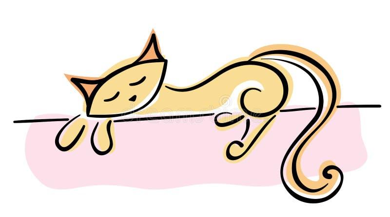 конструкция кота ваша иллюстрация вектора