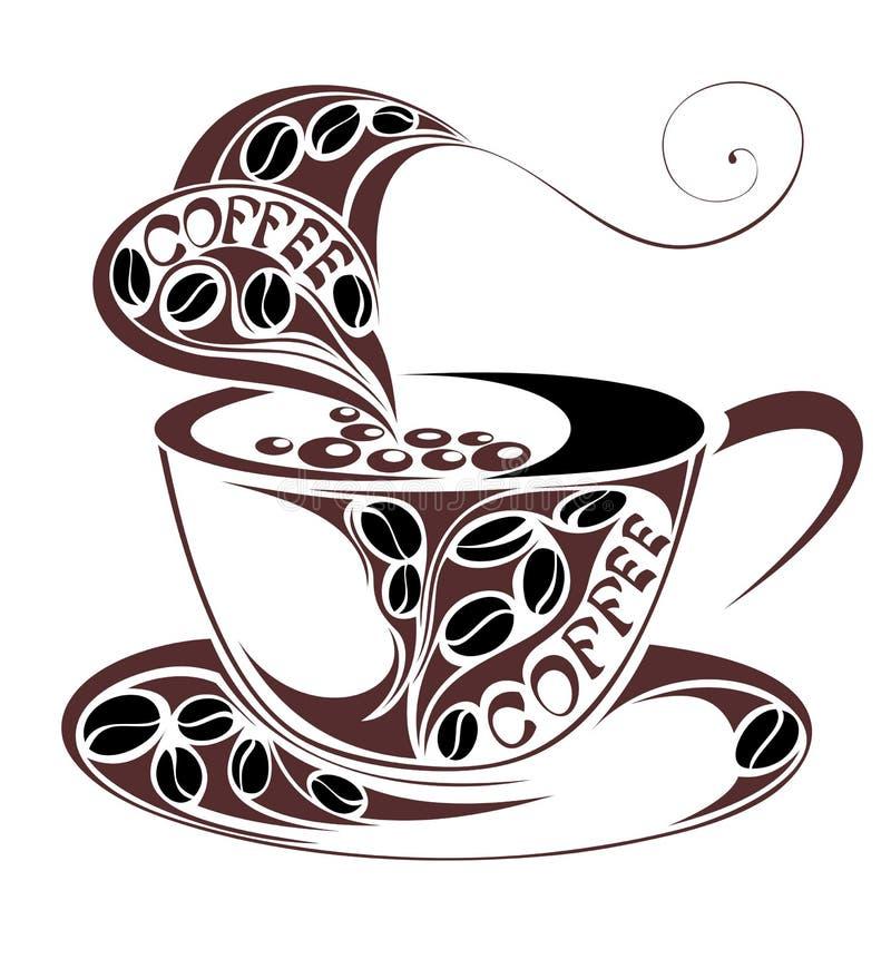 конструкция кофейной чашки иллюстрация штока