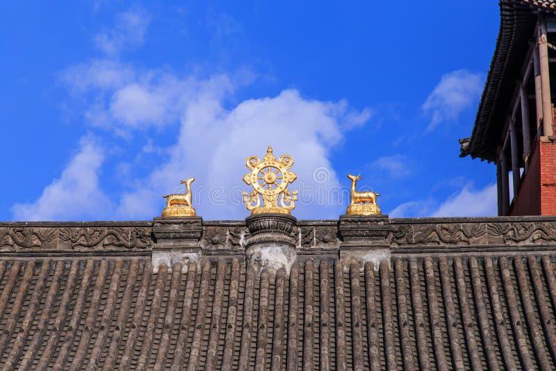 Конструкция крыши виска стоковое фото rf