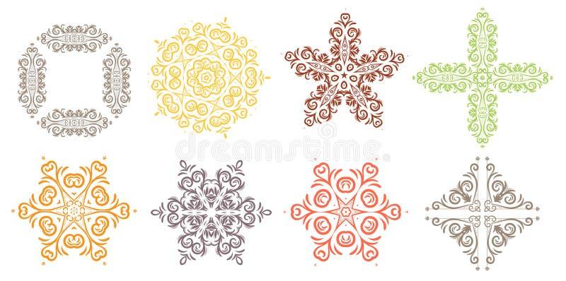 конструкция легкая редактирует элемент для того чтобы vector Круглое украшение орнамента Линия картина цветка Стилизованный флори иллюстрация вектора