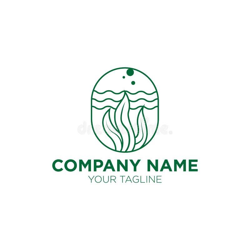 Конструкция логотипа морского травяного трава для компании Medic иллюстрация штока