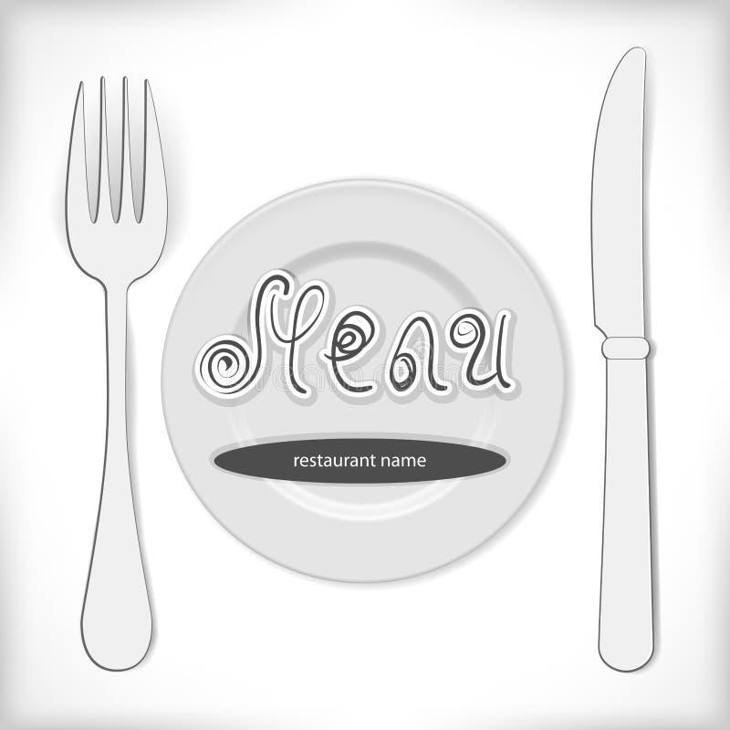 Конструкция меню ресторана бесплатная иллюстрация