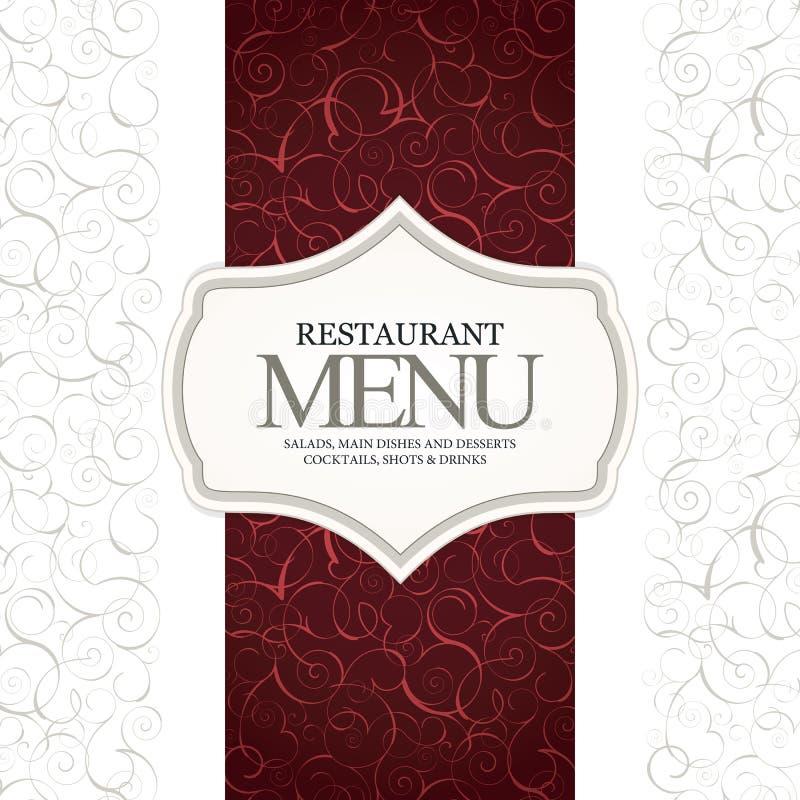 Конструкция меню ресторана иллюстрация вектора
