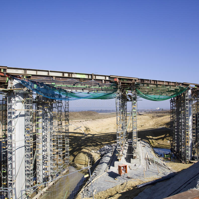 конструкция моста стоковое фото