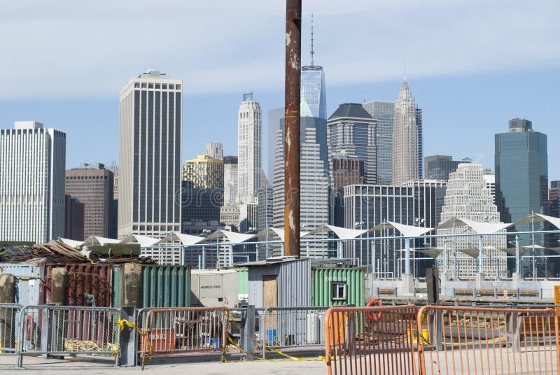 Конструкция на парке Бруклинского моста стоковая фотография
