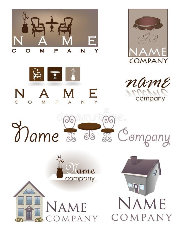 Домашний логос мебели конструкции стоковое фото