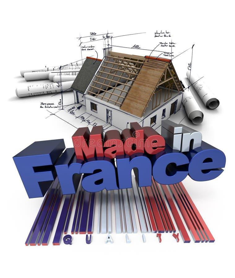 Конструкция дома сделанная в Франции иллюстрация штока