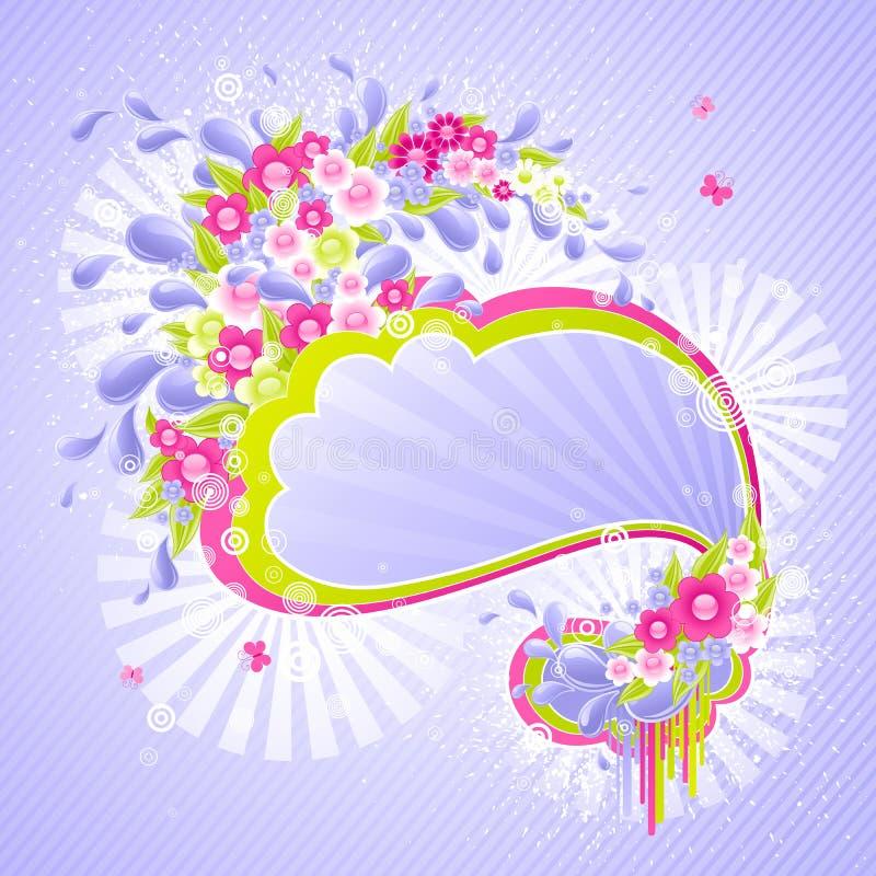 конструкция падает цветки иллюстрация штока