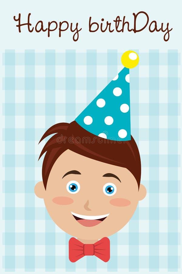 конструкция поздравительой открытки ко дню рождения счастливая иллюстрация вектора